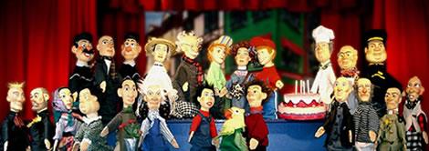 La famille du théâtre de marionnettes