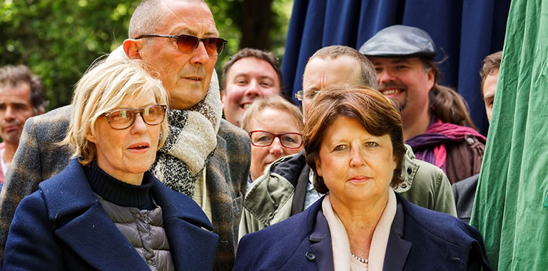 Martine Aubry, maire de Lille - P'tit Jacques est un nouveau géant de la ville de Lille et du quartier Vauban